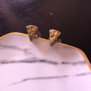 Betsey Johnson Cheese Earrings!